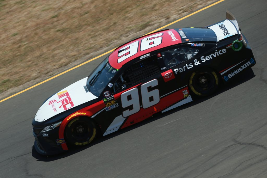 SONOMA, CALIFORNIA - JUNE 21: Parker Kligerman, driver of the #96 TRD 40th Anniversay Toyotapractices for the Monster Energy NASCAR Cup Series Toyota/Save Mart 350 at Sonoma Raceway on June 21, 2019 in Sonoma, California. (Photo by Sean Gardner/Getty Images) | Getty Images
