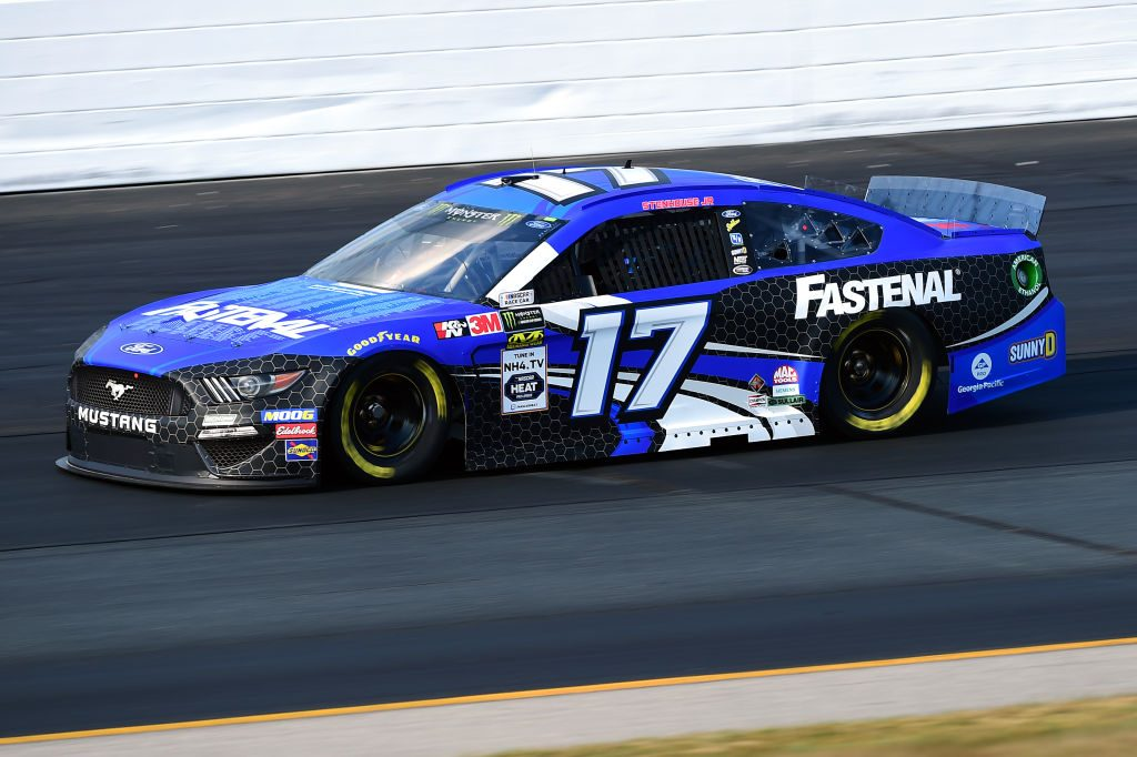 LOUDON, NEW HAMPSHIRE - JULY 19: Ricky Stenhouse Jr., driver of the #17 Fastenal Ford, qualifies for the Monster Energy NASCAR Cup Series Foxwoods Resort Casino 301 at New Hampshire Motor Speedway on July 19, 2019 in Loudon, New Hampshire. (Photo by Jared C. Tilton/Getty Images) | Getty Images