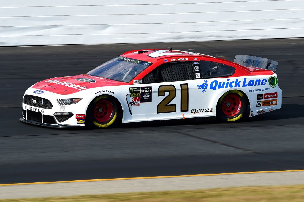 LOUDON, NEW HAMPSHIRE - JULY 19: Paul Menard, driver of the #21 Motorcraft/Quick Lane Tire & Auto Center Ford, qualifies for the Monster Energy NASCAR Cup Series Foxwoods Resort Casino 301 at New Hampshire Motor Speedway on July 19, 2019 in Loudon, New Hampshire. (Photo by Jared C. Tilton/Getty Images) | Getty Images