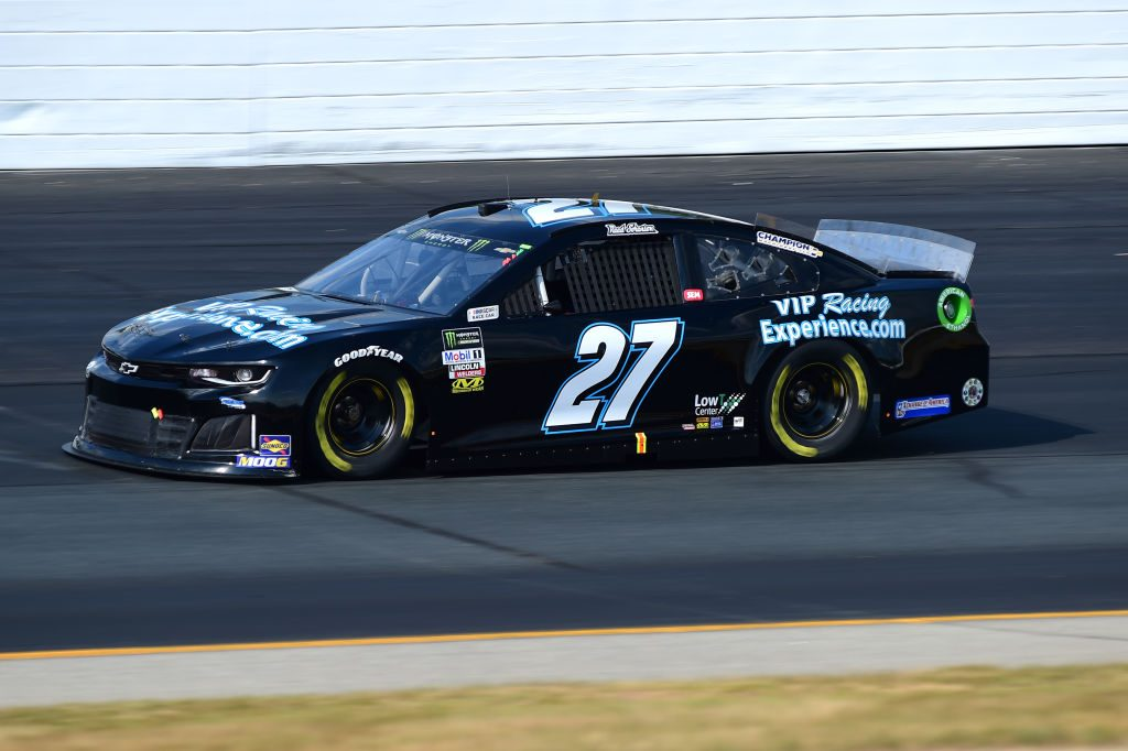 LOUDON, NEW HAMPSHIRE - JULY 19: Reed Sorenson, driver of the #27 VIP RacingExperience.com Chevrolet, qualifies for the Monster Energy NASCAR Cup Series Foxwoods Resort Casino 301 at New Hampshire Motor Speedway on July 19, 2019 in Loudon, New Hampshire. (Photo by Jared C. Tilton/Getty Images) | Getty Images