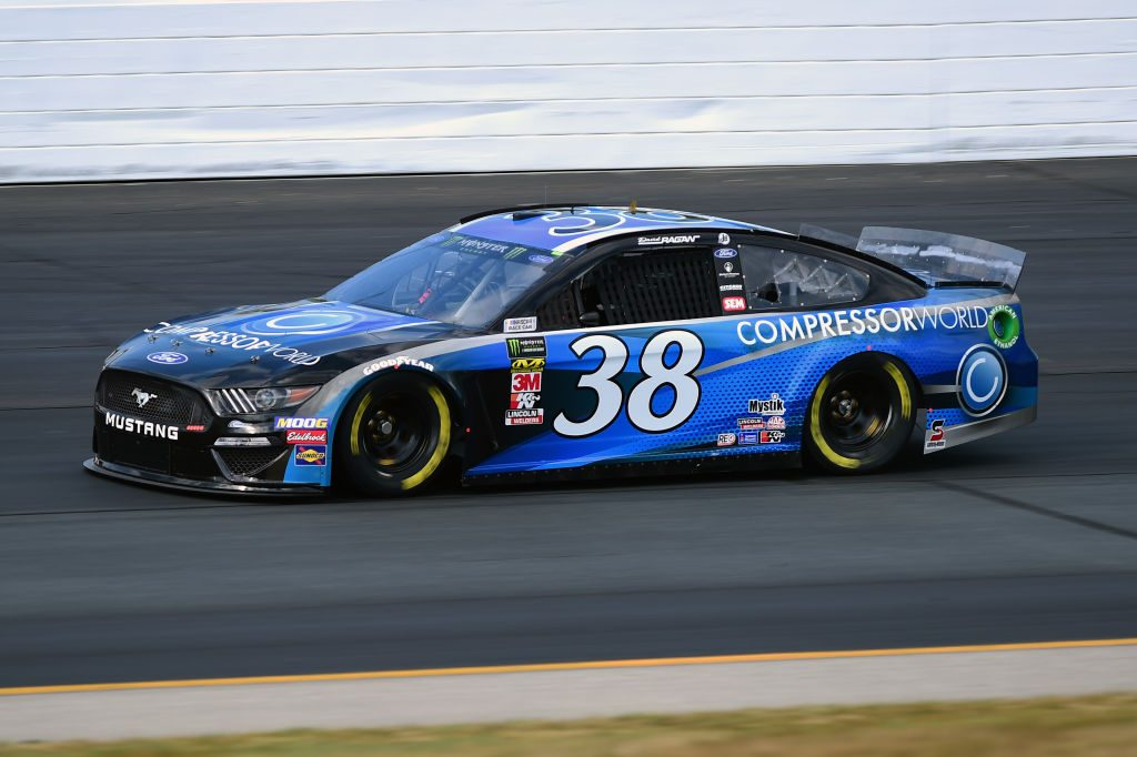 LOUDON, NEW HAMPSHIRE - JULY 19: David Ragan, driver of the #38 Compressor World Ford, qualifies for the Monster Energy NASCAR Cup Series Foxwoods Resort Casino 301 at New Hampshire Motor Speedway on July 19, 2019 in Loudon, New Hampshire. (Photo by Jared C. Tilton/Getty Images) | Getty Images
