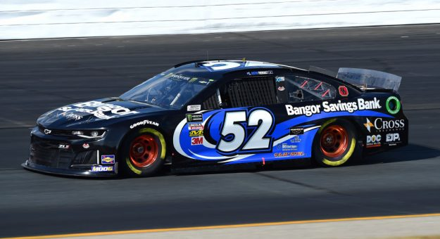 LOUDON, NEW HAMPSHIRE - JULY 19: Austin Theriault, driver of the #52 BANGOR SAVINGS BANK Chevrolet, qualifies for the Monster Energy NASCAR Cup Series Foxwoods Resort Casino 301 at New Hampshire Motor Speedway on July 19, 2019 in Loudon, New Hampshire. (Photo by Jared C. Tilton/Getty Images)   Getty Images