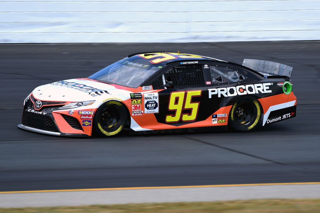 LOUDON, NEW HAMPSHIRE - JULY 19: Matt DiBenedetto, driver of the #95 Procore Toyota, qualifies for the Monster Energy NASCAR Cup Series Foxwoods Resort Casino 301 at New Hampshire Motor Speedway on July 19, 2019 in Loudon, New Hampshire. (Photo by Jared C. Tilton/Getty Images) | Getty Images