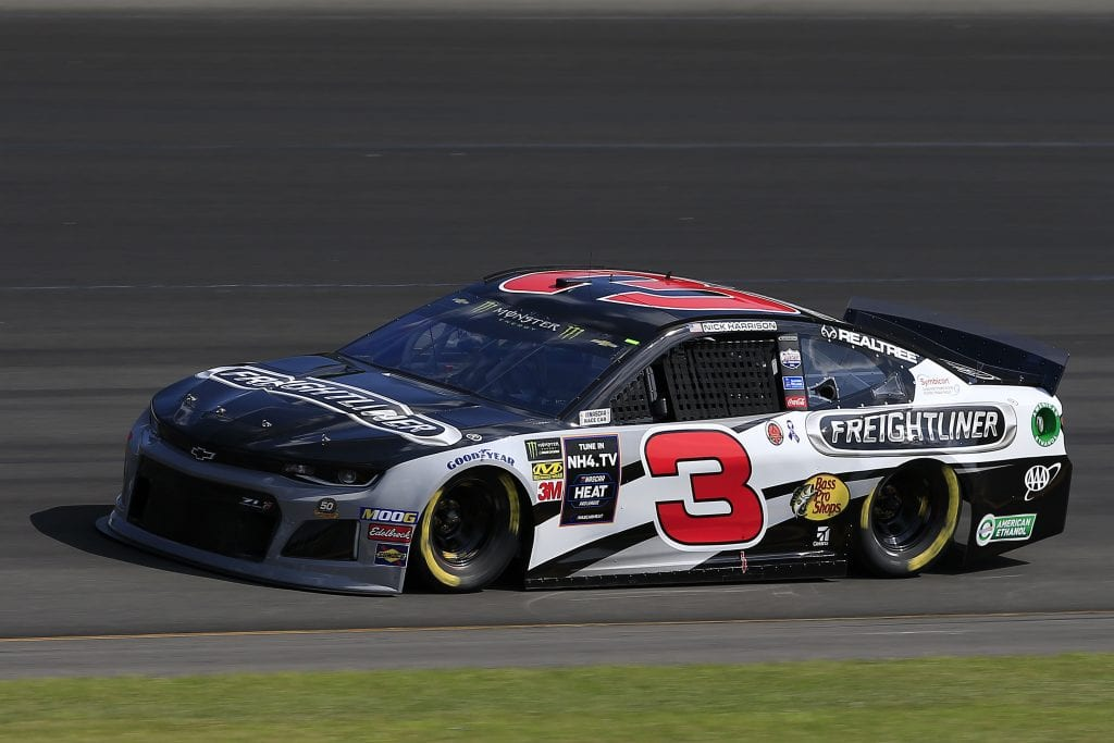 LONG POND, PENNSYLVANIA - JULY 27: Austin Dillon, driver of the #3 Freightliner Chevrolet, qualifies for the Monster Energy NASCAR Cup Series Gander RV 400 at Pocono Raceway on July 27, 2019 in Long Pond, Pennsylvania. (Photo by Chris Trotman/Getty Images) | Getty Images