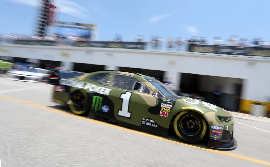 DAYTONA BEACH, FLORIDA - JULY 04: Kurt Busch, driver of the #1 Global Poker Chevrolet, drives through the garage during practice for the Monster Energy NASCAR Cup Series Coke Zero Sugar 400 at Daytona International Speedway on July 04, 2019 in Daytona Beach, Florida. (Photo by Brian Lawdermilk/Getty Images) | Getty Images