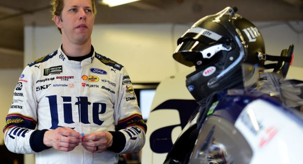 DAYTONA BEACH, FLORIDA - JULY 04: Brad Keselowski, driver of the #2 Miller Lite Ford, stands in the garage area during practice for the Monster Energy NASCAR Cup Series Coke Zero Sugar 400 at Daytona International Speedway on July 04, 2019 in Daytona Beach, Florida. (Photo by Jared C. Tilton/Getty Images) | Getty Images