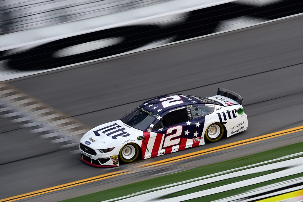 DAYTONA BEACH, FLORIDA - JULY 04: Brad Keselowski, driver of the #2 Miller Lite Ford, practices for the Monster Energy NASCAR Cup Series Coke Zero Sugar 400 at Daytona International Speedway on July 04, 2019 in Daytona Beach, Florida. (Photo by Jared C. Tilton/Getty Images) | Getty Images