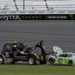 DAYTONA BEACH, FLORIDA - JULY 07: Austin Dillon, driver of the #3 American Ethanol Chevrolet, is towed off the track during the Monster Energy NASCAR Cup Series Coke Zero Sugar 400 at Daytona International Speedway on July 07, 2019 in Daytona Beach, Florida. (Photo by Jeff Curry/Getty Images) | Getty Images