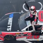 LOUDON, NEW HAMPSHIRE - JULY 20: Christopher Bell, driver of the #20 Rheem-Watts Toyota, celebrates winning the NASCAR Xfinity Series ROXOR 200 at New Hampshire Motor Speedway on July 20, 2019 in Loudon, New Hampshire. (Photo by Jared C. Tilton/Getty Images) | Getty Images