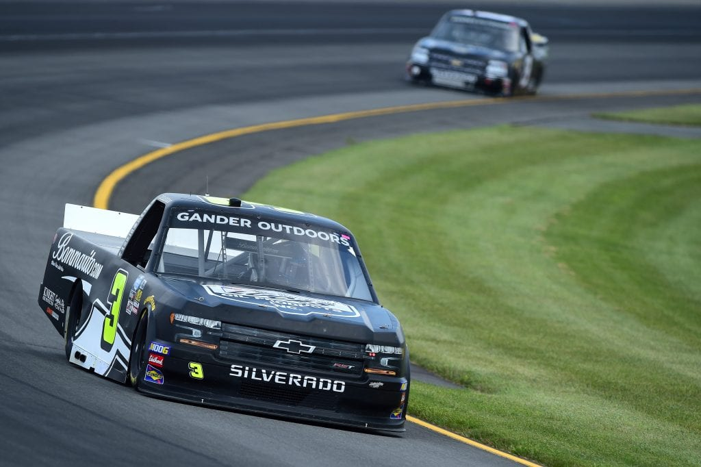 LONG POND, PENNSYLVANIA - JULY 26: Jordan Anderson, driver of the #3 Lucas Oil Chevrolet, practices for the NASCAR Gander Outdoors Truck Series Gander RV 150 at Pocono Raceway on July 26, 2019 in Long Pond, Pennsylvania. (Photo by Jared C. Tilton/Getty Images) | Getty Images