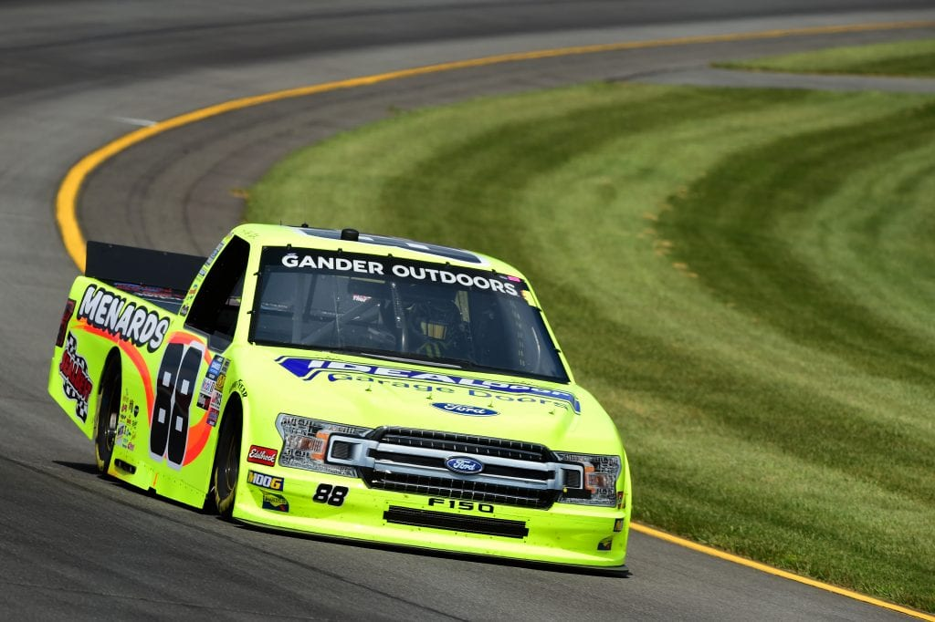 LONG POND, PENNSYLVANIA - JULY 26: Matt Crafton, driver of the #88 Ideal Door/Menards Ford, practices for the NASCAR Gander Outdoors Truck Series Gander RV 150 at Pocono Raceway on July 26, 2019 in Long Pond, Pennsylvania. (Photo by Jared C. Tilton/Getty Images) | Getty Images