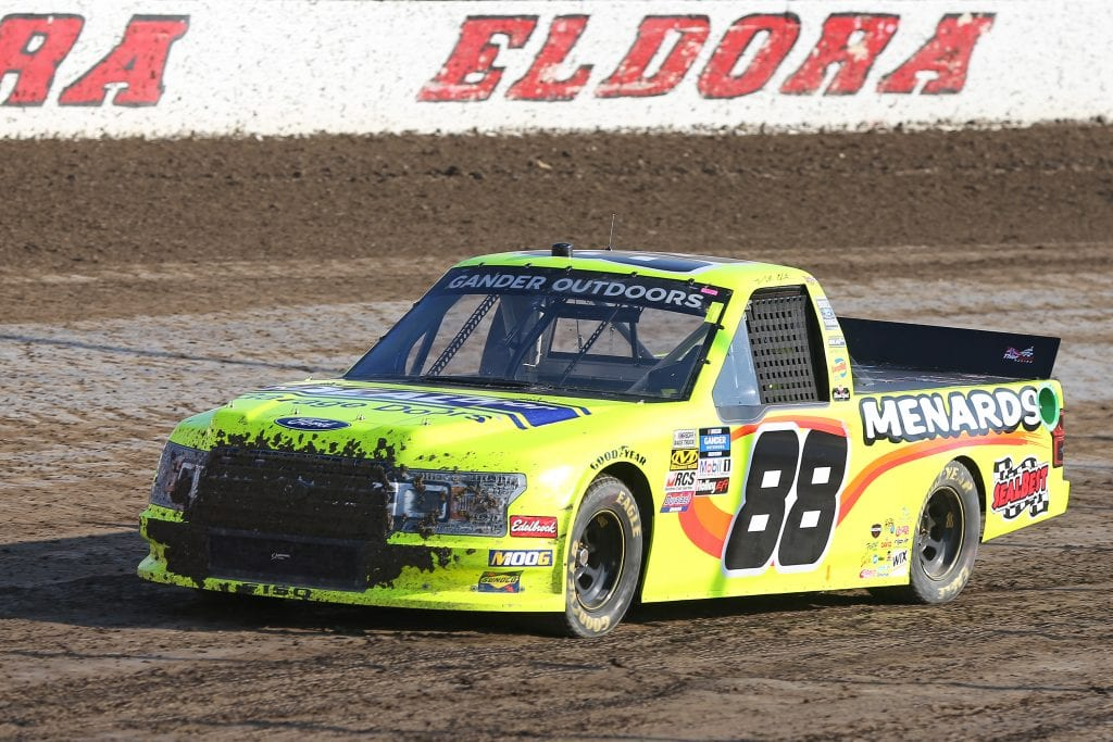 ROSSBURG, OHIO - JULY 31: Matt Crafton, driver of the #88 IdealDoor/Menards Ford, drives during practice for the NASCAR Gander Outdoor Truck Series Eldora Dirt Derby at Eldora Speedway on July 31, 2019 in Rossburg, Ohio. (Photo by Matt Sullivan/Getty Images) | Getty Images