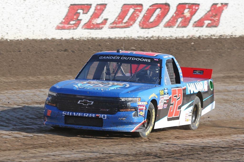 ROSSBURG, OHIO - JULY 31: Stewart Friesen, driver of the #52 Halmar International Chevrolet, drives during practice for the NASCAR Gander Outdoor Truck Series Eldora Dirt Derby at Eldora Speedway on July 31, 2019 in Rossburg, Ohio. (Photo by Matt Sullivan/Getty Images) | Getty Images
