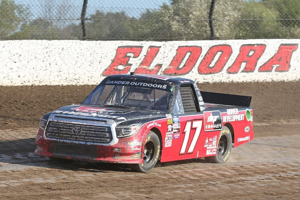 ROSSBURG, OHIO - JULY 31: Tyler Ankrum, driver of the #17 DGR-Crosley Driver Development Toyota, drives during practice for the NASCAR Gander Outdoor Truck Series Eldora Dirt Derby at Eldora Speedway on July 31, 2019 in Rossburg, Ohio. (Photo by Matt Sullivan/Getty Images) | Getty Images