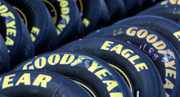 FORT WORTH, TX - NOVEMBER 03:  Goodyear Eagle racing tires are seen in the garage area during Salute To Veterans Qualifying Days Fueled by Texas Lottery for the Monster Energy NASCAR Cup Series AAA Texas 500 at Texas Motor Speedway on November 3, 2017 in Fort Worth, Texas.  (Photo by Richard W. Rodriguez/Getty Images for Texas Motor Speedway) | Getty Images