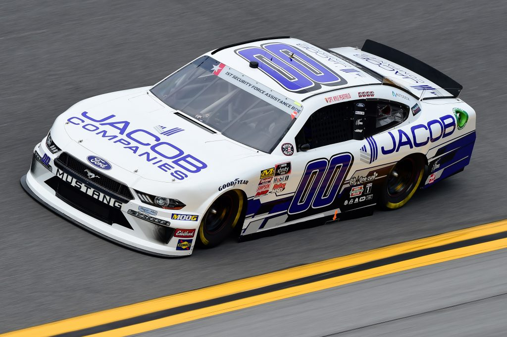 DAYTONA BEACH, FLORIDA - JULY 05: Cole Custer, driver of the #00 Jacob Companies Ford, qualifies for the NASCAR Xfinity Series Circle K Firecracker 250 Powered by Coca-Cola at Daytona International Speedway on July 05, 2019 in Daytona Beach, Florida. (Photo by Jared C. Tilton/Getty Images) | Getty Images