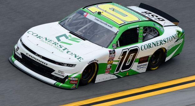 DAYTONA BEACH, FLORIDA - JULY 05: AJ Allmendinger, driver of the #10 Cornerstone Produce Group Chevrolet, qualifies for the NASCAR Xfinity Series Circle K Firecracker 250 Powered by Coca-Cola at Daytona International Speedway on July 05, 2019 in Daytona Beach, Florida. (Photo by Jared C. Tilton/Getty Images)   Getty Images