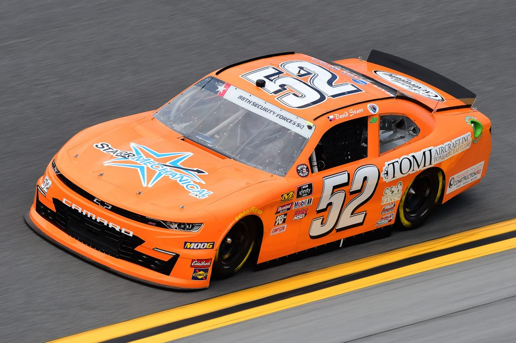 DAYTONA BEACH, FLORIDA - JULY 05: David Starr, driver of the #52 Starr Mechanical/Tomi Aircraft Chevrolet, qualifies for the NASCAR Xfinity Series Circle K Firecracker 250 Powered by Coca-Cola at Daytona International Speedway on July 05, 2019 in Daytona Beach, Florida. (Photo by Jared C. Tilton/Getty Images) | Getty Images