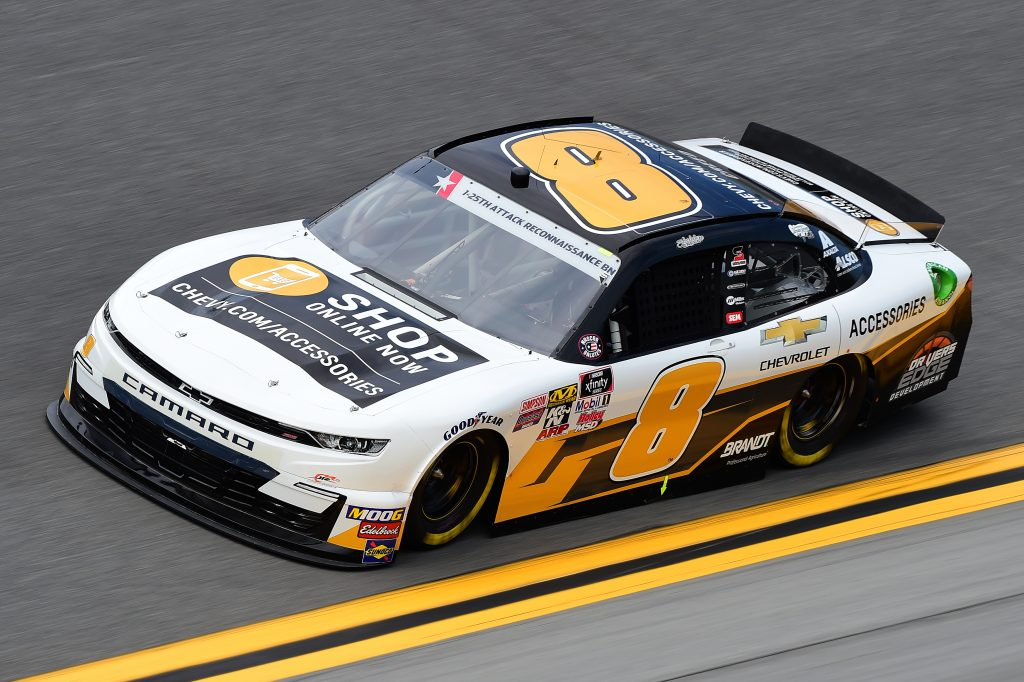 DAYTONA BEACH, FLORIDA - JULY 05: Sheldon Creed, driver of the #8 Chevrolet Accessories Chevrolet, qualifies for the NASCAR Xfinity Series Circle K Firecracker 250 Powered by Coca-Cola at Daytona International Speedway on July 05, 2019 in Daytona Beach, Florida. (Photo by Jared C. Tilton/Getty Images) | Getty Images