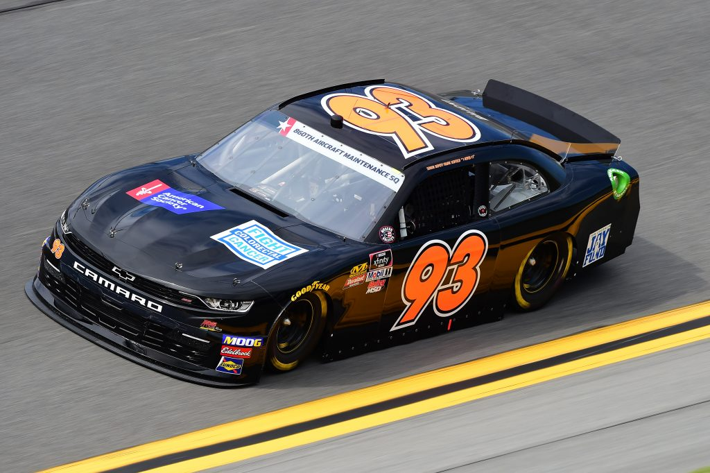 DAYTONA BEACH, FLORIDA - JULY 05: Scott Lagasse Jr., driver of the #93 Chevrolet, qualifies for the NASCAR Xfinity Series Circle K Firecracker 250 Powered by Coca-Cola at Daytona International Speedway on July 05, 2019 in Daytona Beach, Florida. (Photo by Jared C. Tilton/Getty Images) | Getty Images