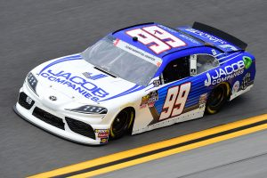 DAYTONA BEACH, FLORIDA - JULY 05: Stefan Parsons, driver of the #99 Jacob Companies Toyota, qualifies for the NASCAR Xfinity Series Circle K Firecracker 250 Powered by Coca-Cola at Daytona International Speedway on July 05, 2019 in Daytona Beach, Florida. (Photo by Jared C. Tilton/Getty Images)   Getty Images