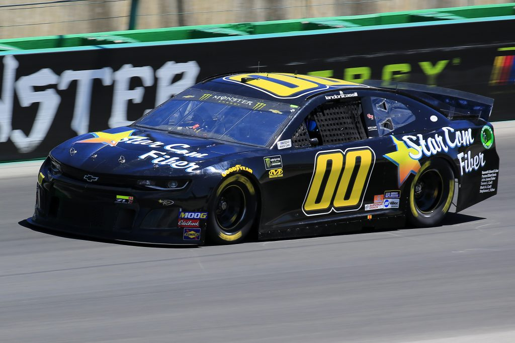 SPARTA, KENTUCKY - JULY 12: Landon Cassill, driver of the #00 StarCom Fiber Chevrolet, practices for the Monster Energy NASCAR Cup Series Quaker State 400 Presented by Walmart at Kentucky Speedway on July 12, 2019 in Sparta, Kentucky. (Photo by Daniel Shirey/Getty Images)