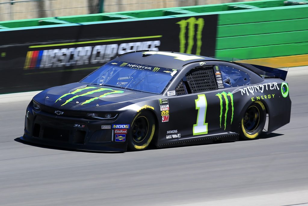 SPARTA, KENTUCKY - JULY 12: Kurt Busch, driver of the #1 Monster Energy Chevrolet, practices for the Monster Energy NASCAR Cup Series Quaker State 400 Presented by Walmart at Kentucky Speedway on July 12, 2019 in Sparta, Kentucky. (Photo by Daniel Shirey/Getty Images)