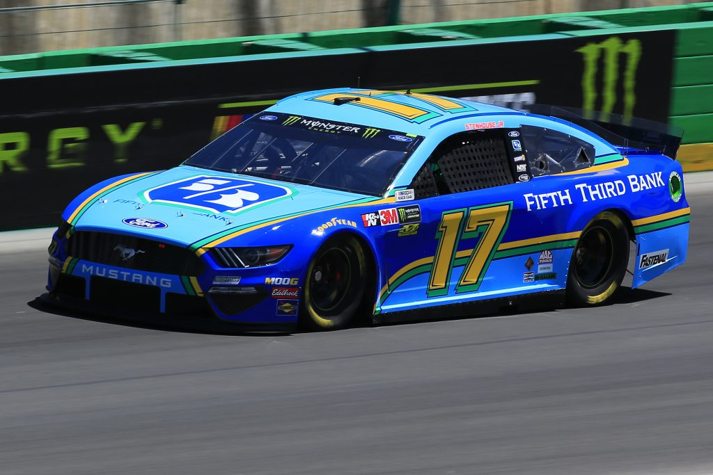 SPARTA, KENTUCKY - JULY 12: Ricky Stenhouse Jr., driver of the #17 Fifth Third Bank Ford, practices for the Monster Energy NASCAR Cup Series Quaker State 400 Presented by Walmart at Kentucky Speedway on July 12, 2019 in Sparta, Kentucky. (Photo by Daniel Shirey/Getty Images)