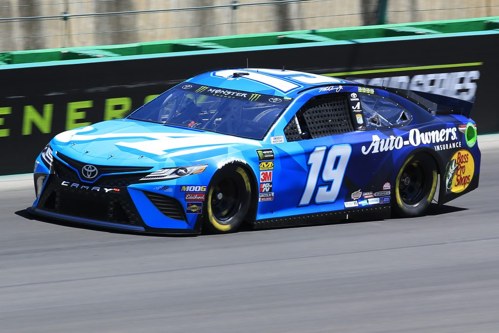 SPARTA, KENTUCKY - JULY 12: Martin Truex Jr., driver of the #19 Auto Owners Insurance Toyota, practices for the Monster Energy NASCAR Cup Series Quaker State 400 Presented by Walmart at Kentucky Speedway on July 12, 2019 in Sparta, Kentucky. (Photo by Daniel Shirey/Getty Images)