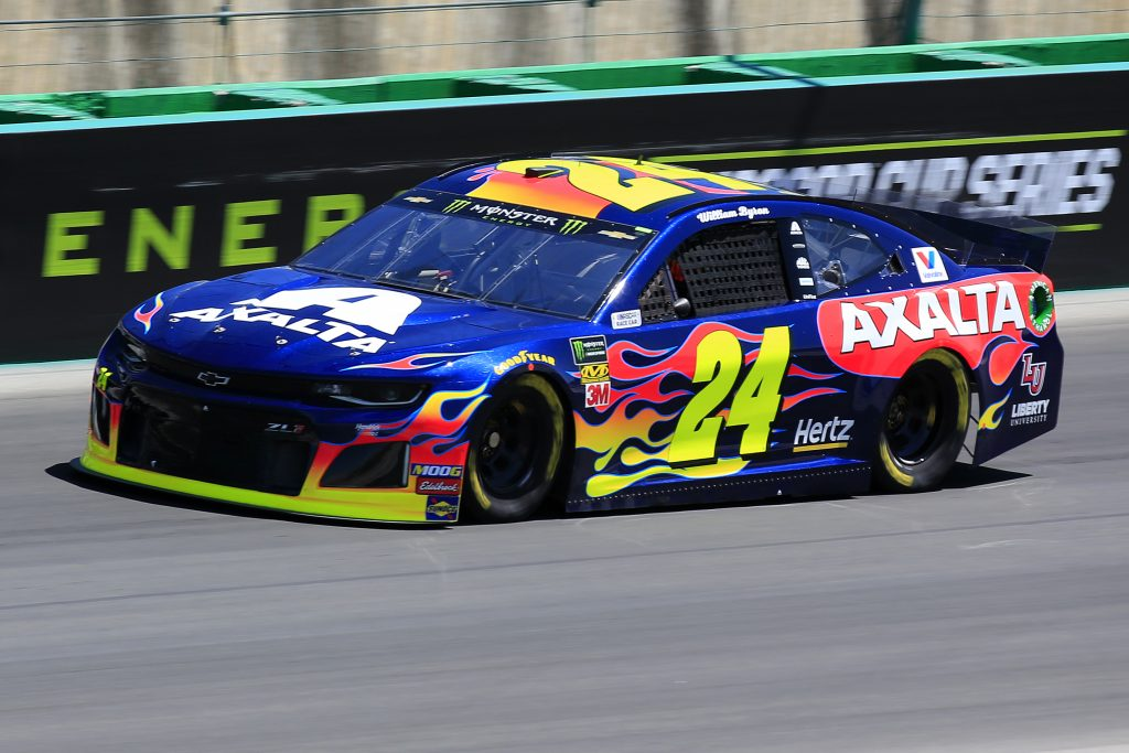 SPARTA, KENTUCKY - JULY 12: William Byron, driver of the #24 Axalta Chevrolet, practices for the Monster Energy NASCAR Cup Series Quaker State 400 Presented by Walmart at Kentucky Speedway on July 12, 2019 in Sparta, Kentucky. (Photo by Daniel Shirey/Getty Images)