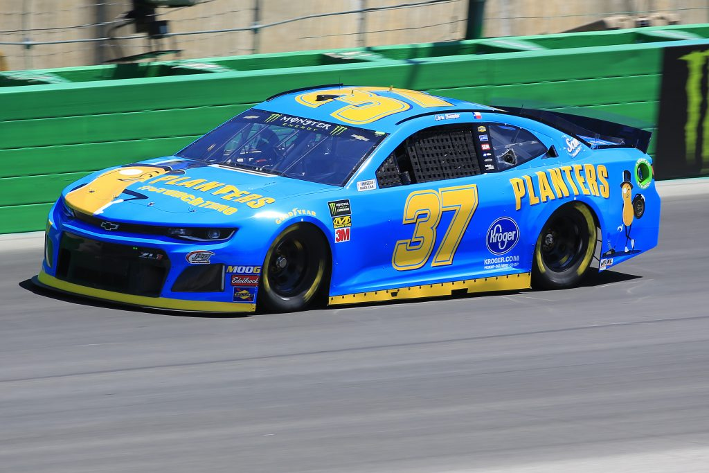 SPARTA, KENTUCKY - JULY 12: Chris Buescher, driver of the #37 Planters Chevrolet, practices for the Monster Energy NASCAR Cup Series Quaker State 400 Presented by Walmart at Kentucky Speedway on July 12, 2019 in Sparta, Kentucky. (Photo by Daniel Shirey/Getty Images)