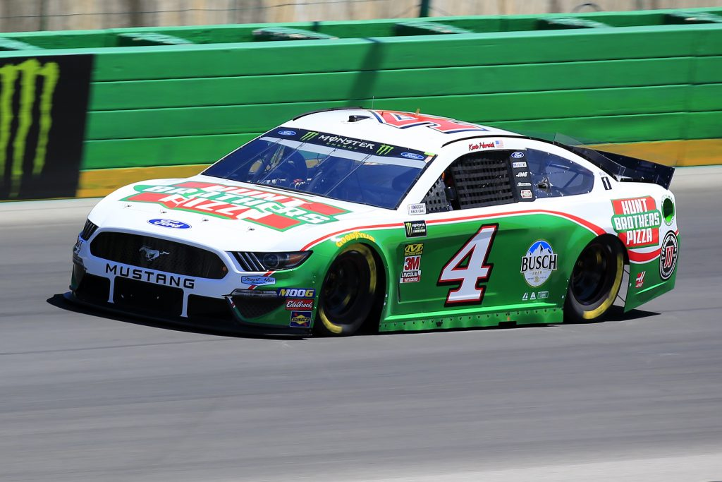 SPARTA, KENTUCKY - JULY 12: Kevin Harvick, driver of the #4 Hunt Brothers Pizza Ford, practices for the Monster Energy NASCAR Cup Series Quaker State 400 Presented by Walmart at Kentucky Speedway on July 12, 2019 in Sparta, Kentucky. (Photo by Daniel Shirey/Getty Images)