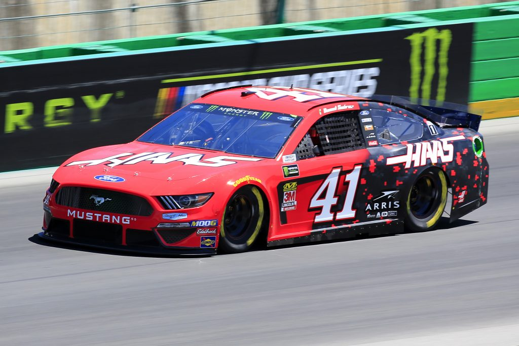 SPARTA, KENTUCKY - JULY 12: Daniel Suarez, driver of the #41 Haas Automation Ford, practices for the Monster Energy NASCAR Cup Series Quaker State 400 Presented by Walmart at Kentucky Speedway on July 12, 2019 in Sparta, Kentucky. (Photo by Daniel Shirey/Getty Images)