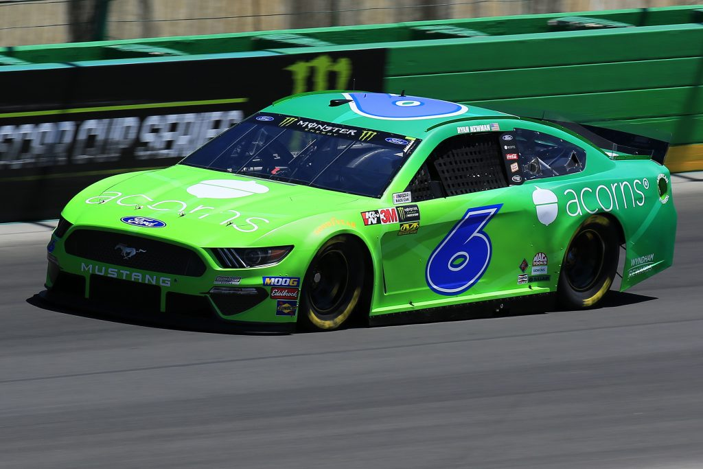 SPARTA, KENTUCKY - JULY 12: Ryan Newman, driver of the #6 Acorns Ford, practices for the Monster Energy NASCAR Cup Series Quaker State 400 presented by Walmart at Kentucky Speedway on July 12, 2019 in Sparta, Kentucky. (Photo by Daniel Shirey/Getty Images)