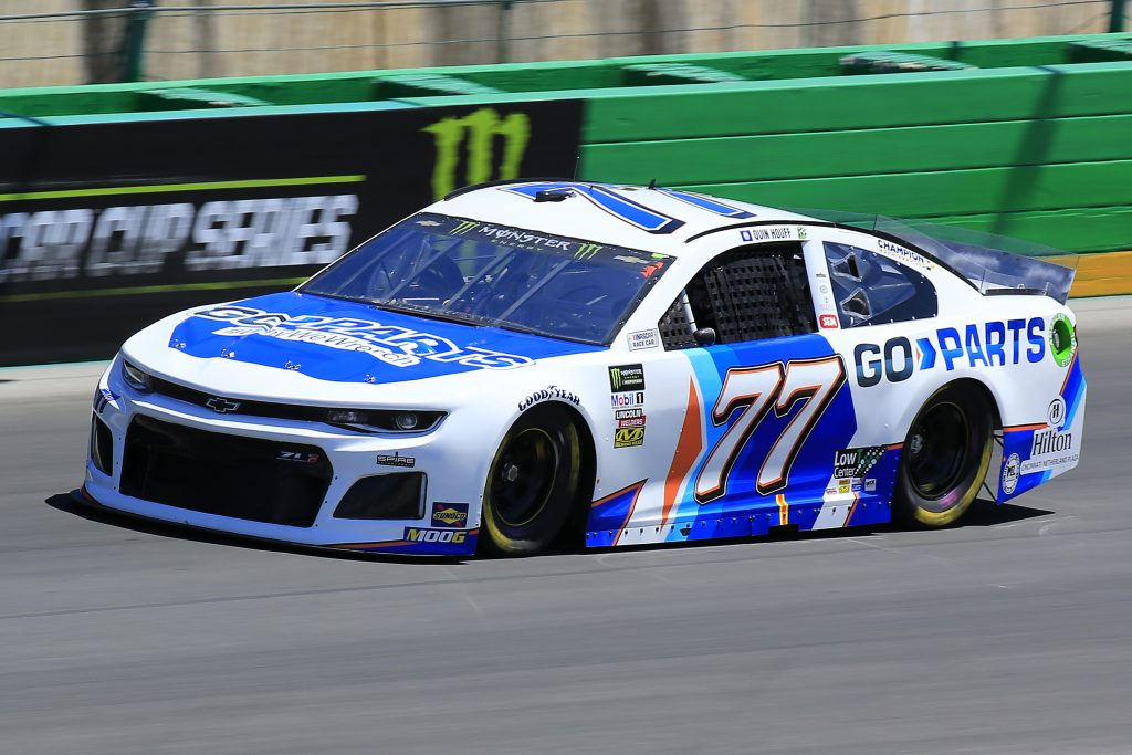 SPARTA, KENTUCKY - JULY 12: Quin Houff, driver of the #77 Go-Parts.com Chevrolet, practices for the Monster Energy NASCAR Cup Series Quaker State 400 Presented by Walmart at Kentucky Speedway on July 12, 2019 in Sparta, Kentucky. (Photo by Daniel Shirey/Getty Images)