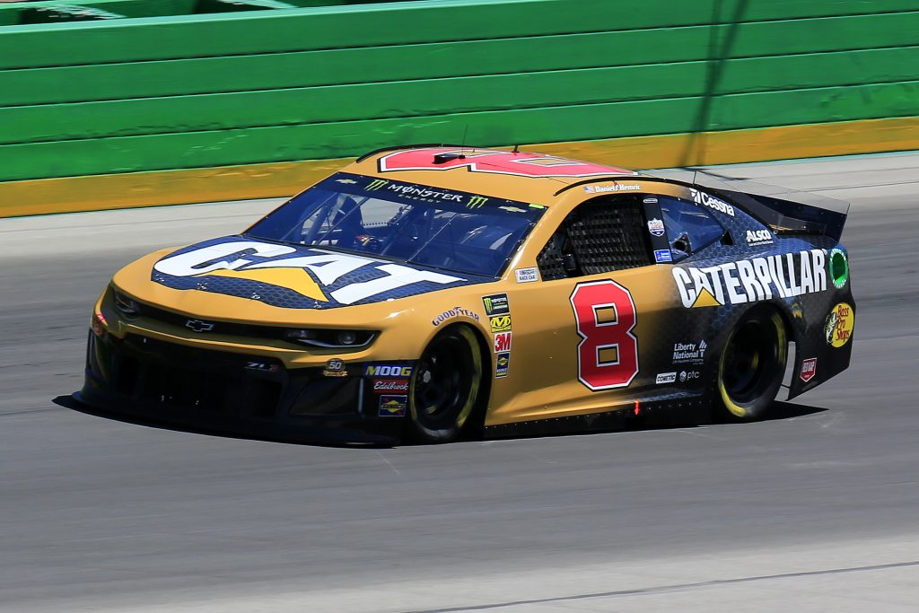 SPARTA, KENTUCKY - JULY 12: Daniel Hemric, driver of the #8 Caterpillar Chevrolet, practices for the Monster Energy NASCAR Cup Series Quaker State 400 Presented by Walmart at Kentucky Speedway on July 12, 2019 in Sparta, Kentucky. (Photo by Daniel Shirey/Getty Images)