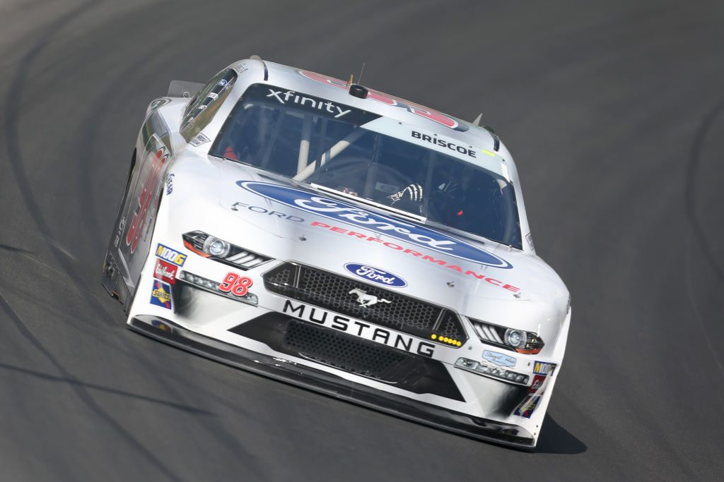 SPARTA, KENTUCKY - JULY 11: Chase Briscoe, driver of the #98 Ford Performance Ford, drives during practice for the NASCAR Xfinity Series Alsco 300 at Kentucky Speedway on July 11, 2019 in Sparta, Kentucky. (Photo by Matt Sullivan/Getty Images) | Getty Images