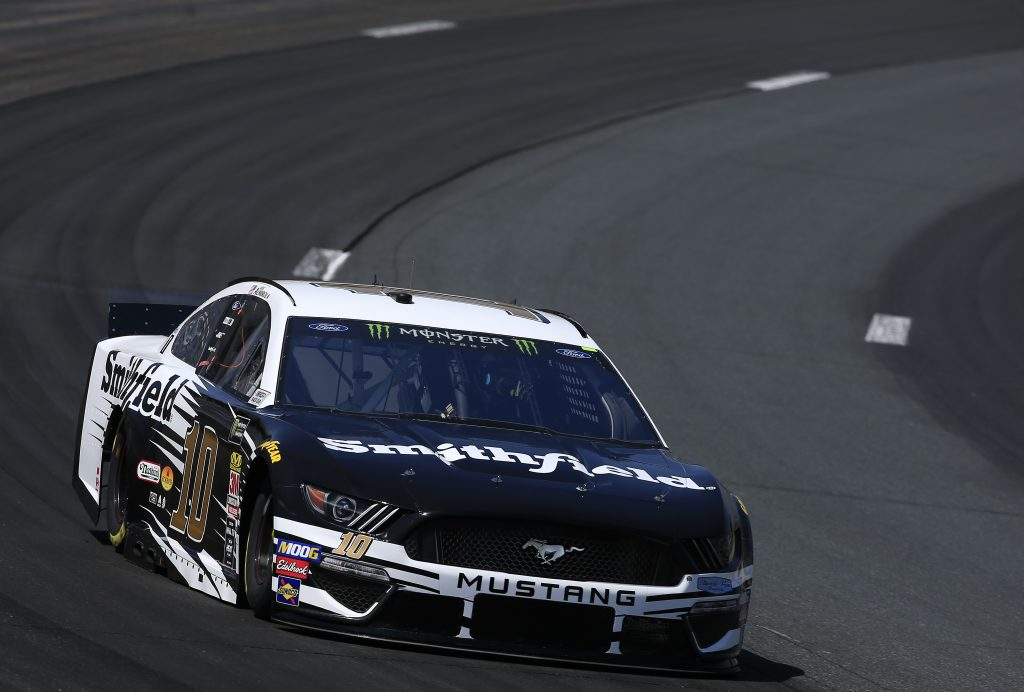 LOUDON, NEW HAMPSHIRE - JULY 19: Aric Almirola, driver of the #10 Smithfield Ford, practices for the Monster Energy NASCAR Cup Series Foxwoods Resort Casino 301 at New Hampshire Motor Speedway on July 19, 2019 in Loudon, New Hampshire. (Photo by Chris Trotman/Getty Images) | Getty Images