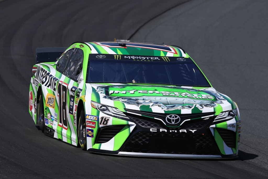 LOUDON, NEW HAMPSHIRE - JULY 19: Kyle Busch, driver of the #18 Interstate Batteries Toyota, practices for the Monster Energy NASCAR Cup Series Foxwoods Resort Casino 301 at New Hampshire Motor Speedway on July 19, 2019 in Loudon, New Hampshire. (Photo by Chris Trotman/Getty Images) | Getty Images