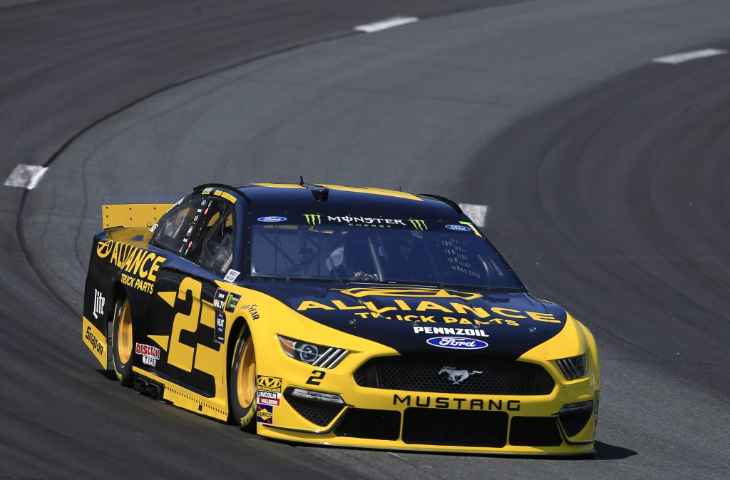 LOUDON, NEW HAMPSHIRE - JULY 19: Brad Keselowski, driver of the #2 Alliance Truck Parts Ford, practices for the Monster Energy NASCAR Cup Series Foxwoods Resort Casino 301 at New Hampshire Motor Speedway on July 19, 2019 in Loudon, New Hampshire. (Photo by Chris Trotman/Getty Images) | Getty Images