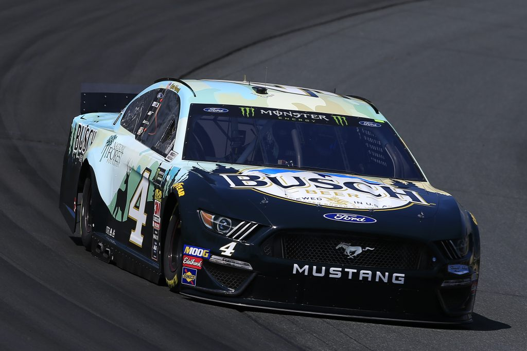 LOUDON, NEW HAMPSHIRE - JULY 19: Kevin Harvick, driver of the #4 Busch Beer/National Forest Foundation Ford, practices for the Monster Energy NASCAR Cup Series Foxwoods Resort Casino 301 at New Hampshire Motor Speedway on July 19, 2019 in Loudon, New Hampshire. (Photo by Chris Trotman/Getty Images) | Getty Images