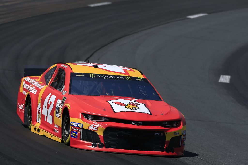 LOUDON, NEW HAMPSHIRE - JULY 19: Kyle Larson, driver of the #42 McDonald's Chevrolet, practices for the Monster Energy NASCAR Cup Series Foxwoods Resort Casino 301 at New Hampshire Motor Speedway on July 19, 2019 in Loudon, New Hampshire. (Photo by Chris Trotman/Getty Images) | Getty Images