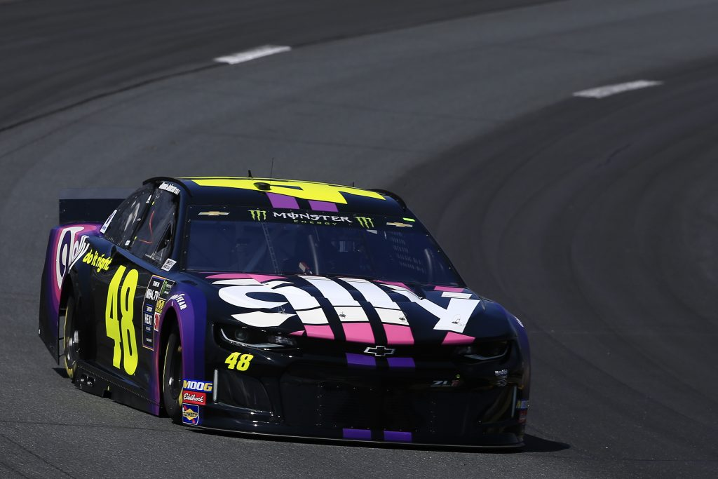 LOUDON, NEW HAMPSHIRE - JULY 19: Jimmie Johnson, driver of the #48 Ally Chevrolet, practices for the Monster Energy NASCAR Cup Series Foxwoods Resort Casino 301 at New Hampshire Motor Speedway on July 19, 2019 in Loudon, New Hampshire. (Photo by Chris Trotman/Getty Images) | Getty Images