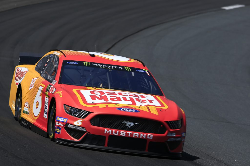 LOUDON, NEW HAMPSHIRE - JULY 19: Ryan Newman, driver of the #6 Oscar Mayer/Velveeta Ford, practices for the Monster Energy NASCAR Cup Series Foxwoods Resort Casino 301 at New Hampshire Motor Speedway on July 19, 2019 in Loudon, New Hampshire. (Photo by Chris Trotman/Getty Images) | Getty Images