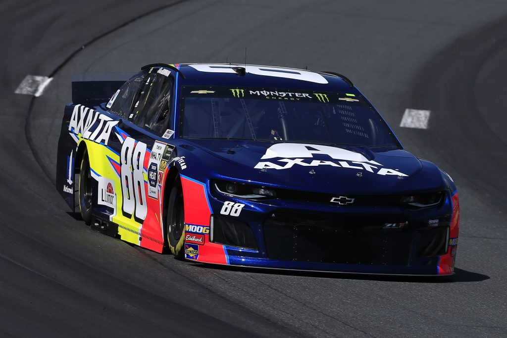 LOUDON, NEW HAMPSHIRE - JULY 19: Alex Bowman, driver of the #88 Axalta Chevrolet, practices for the Monster Energy NASCAR Cup Series Foxwoods Resort Casino 301 at New Hampshire Motor Speedway on July 19, 2019 in Loudon, New Hampshire. (Photo by Chris Trotman/Getty Images) | Getty Images