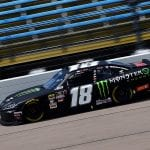 NEWTON, IA - JULY 27: Riley Herbst, driver of the #18 Monster Energy Toyota, drives during qualifying for the NASCAR Xfinity Series U.S. Cellular 250 at Iowa Speedway on July 27, 2019 in Newton, Iowa. (Photo by Jeff Curry/Getty Images) | Getty Images