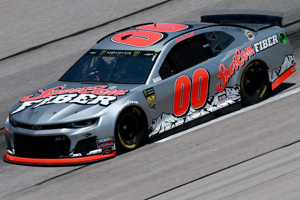 DARLINGTON, SOUTH CAROLINA - AUGUST 30: Landon Cassill, driver of the #00 StarCom Fiber Chevrolet, practices for the Monster Energy NASCAR Cup Series Bojangles' Southern 500 at Darlington Raceway on August 30, 2019 in Darlington, South Carolina. (Photo by Sean Gardner/Getty Images) | Getty Images