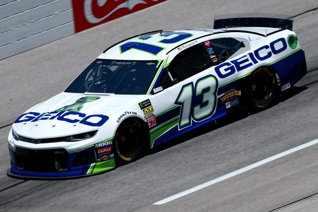 DARLINGTON, SOUTH CAROLINA - AUGUST 30: Ty Dillon, driver of the #13 GEICO Chevrolet, practices for the Monster Energy NASCAR Cup Series Bojangles' Southern 500 at Darlington Raceway on August 30, 2019 in Darlington, South Carolina. (Photo by Sean Gardner/Getty Images) | Getty Images