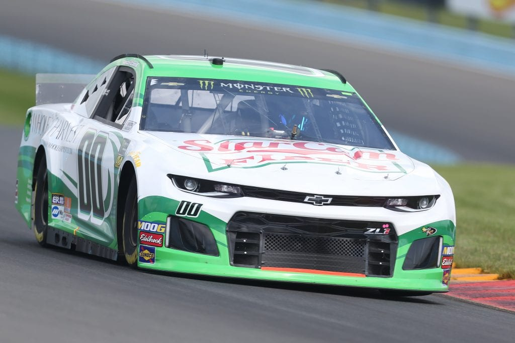 WATKINS GLEN, NEW YORK - AUGUST 03: Landon Cassill, driver of the #00 StarCom Fiber Chevrolet, drives during practice for the Monster Energy NASCAR Cup Series Go Bowling at The Glen at Watkins Glen International on August 03, 2019 in Watkins Glen, New York. (Photo by Matt Sullivan/Getty Images) | Getty Images