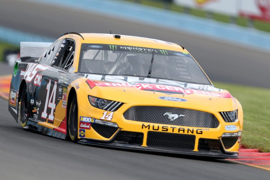 WATKINS GLEN, NEW YORK - AUGUST 03: Clint Bowyer, driver of the #14 Rush Truck Centers/Haas Automation Ford, drives during practice for the Monster Energy NASCAR Cup Series Go Bowling at The Glen at Watkins Glen International on August 03, 2019 in Watkins Glen, New York. (Photo by Matt Sullivan/Getty Images) | Getty Images